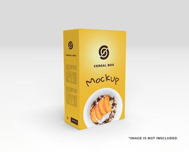Cereal box mockup