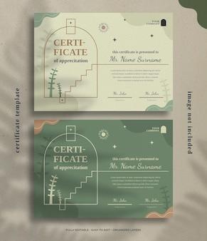 Шаблон оформления сертификата