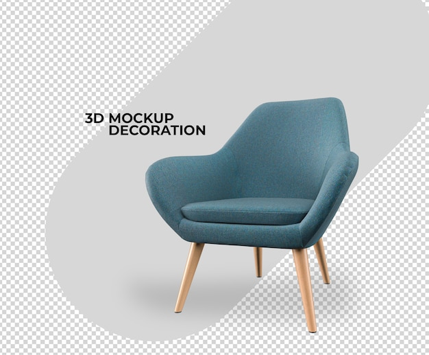 Chair interior decoration mockup rendering