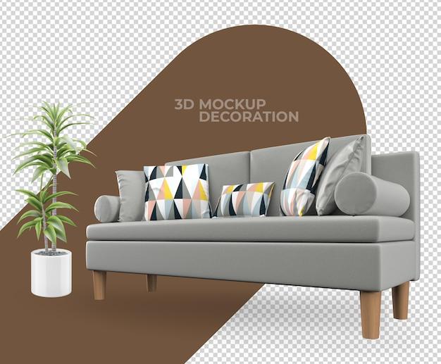 Кресло диван декор интерьера макет