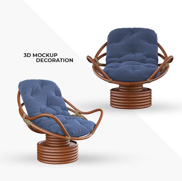 椅子ソファ室内装飾モックアップ