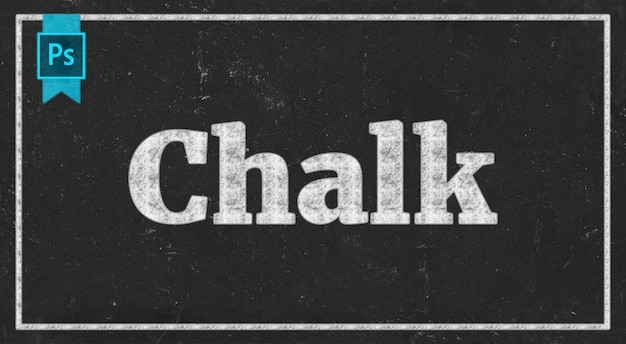 Chalk text effect