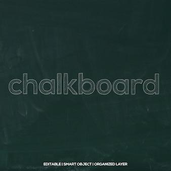Chalkboard font effect
