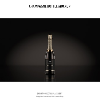 Champagne bottle mockup