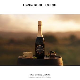 シャンパンボトルモックアップ