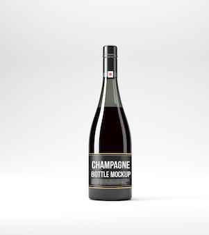 Мокап бутылки шампанского