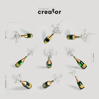 Champagne variety angles christmas scene creator