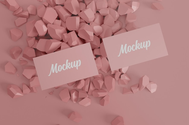 Сменный цветной макет визитки
