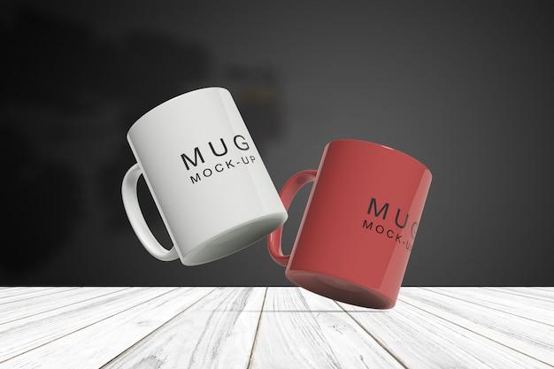 Changeable color mug mockup