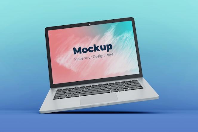 변경 가능한 플로팅 노트북 화면 이랑 디자인 서식 파일