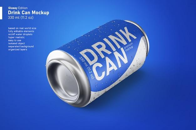변경 가능한 광택 금속 소다 음료 수 응축으로 현실적인 모형
