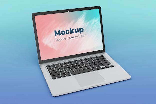 変更可能なノートパソコンの画面のモックアップデザインテンプレート