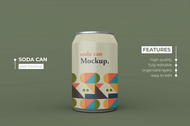 Сменный современный напиток соды алюминия может макет дизайна