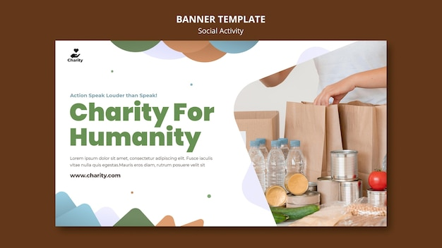 Charity activities banner template