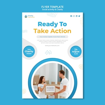 Charity activities flyer template