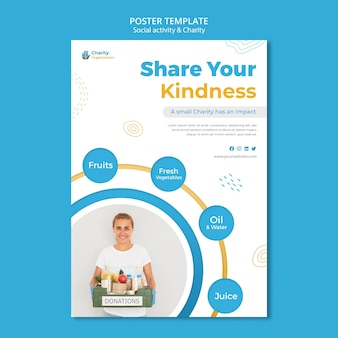 Charity activities poster template