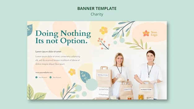 Charity banner template design