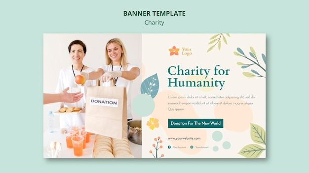 Charity banner template