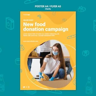 Modello di stampa della campagna di beneficenza