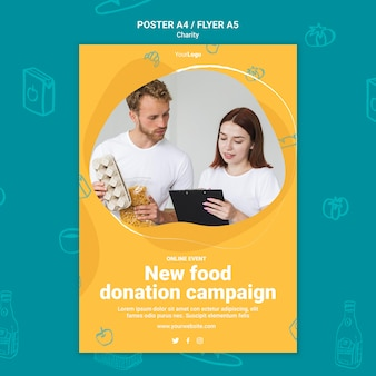 Шаблон для печати благотворительной кампании