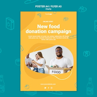 Charity campaign print template
