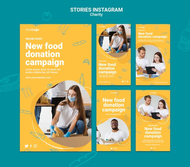 Charity campaign social media stories