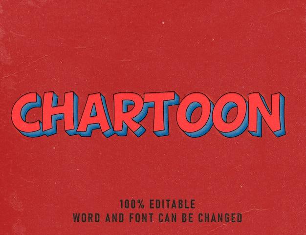 Текстовый эффект chartoon comic editable шрифт цвет стиль винтаж