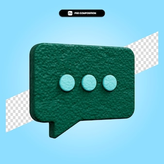 Chat 3d render illustration isolated