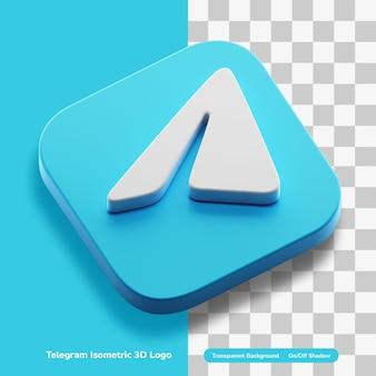分離された丸い正方形で等尺性チャットアプリ3dコンセプトロゴアイコン