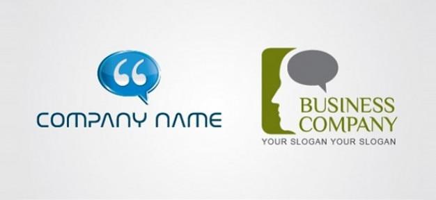 Общаться пузыри шаблоны векторный логотип