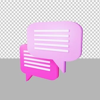 채팅 아이콘 3d 그림 비즈니스