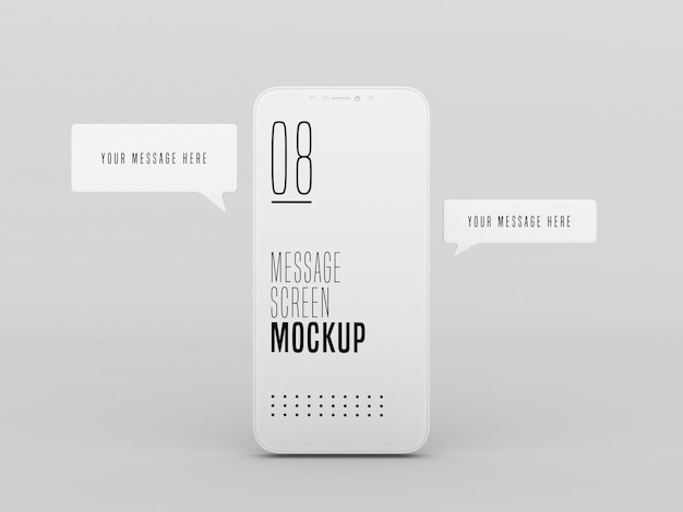 Chat messaging conversation on mobile phone mockup