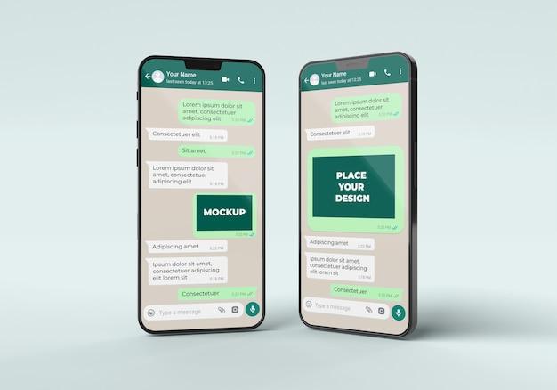Chat mockup con disposizione smartphone