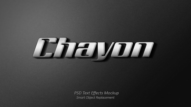 Chayon 3d text effect