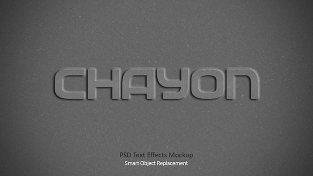 Chayon 3d text effects template