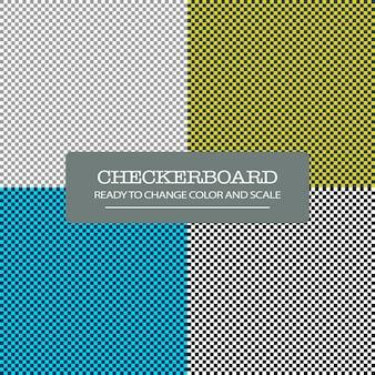 チェッカーボードのシームレスパターン