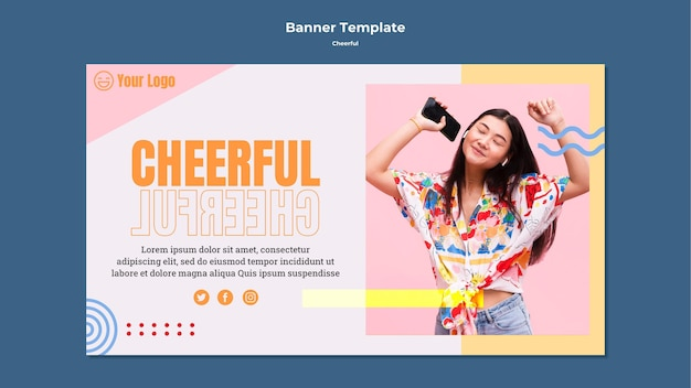 Cheerful banner template