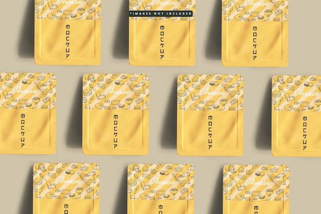 Cheese packaging mockup
