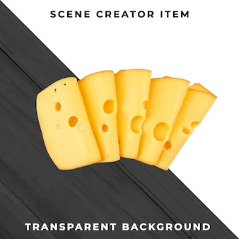 Cheese on transparent background
