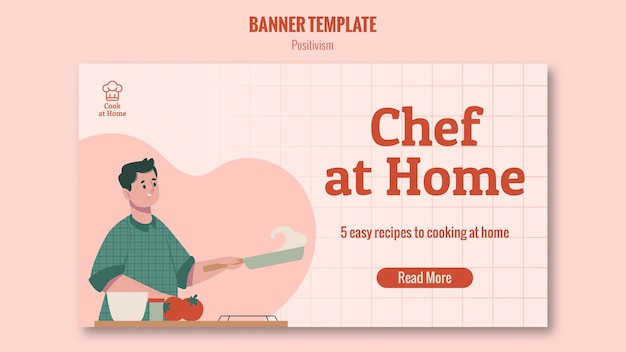 Chef at home banner template