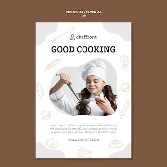 Stile del poster di lezione di chef