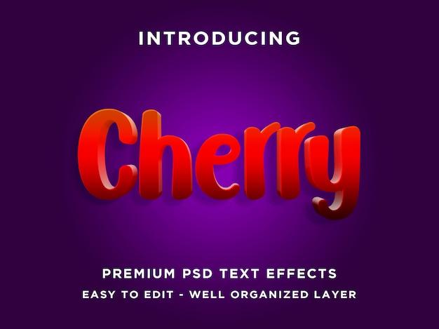 Редактируемый текстовый эффект - cherry red style
