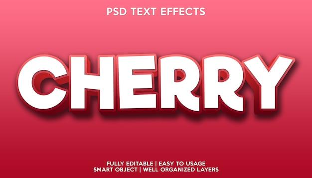 Вишневый текстовый эффект