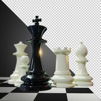 Шахматы 3d визуализации изолированное изображение