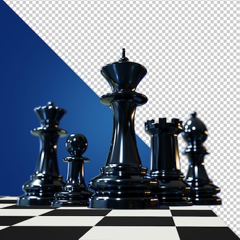 Chess 3d rendering isolated image Premium Psd