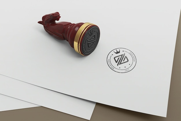 Дизайн макета логотипа шахматной марки