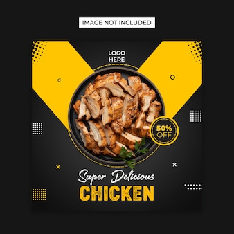 Chicken food social  media and instagram post template