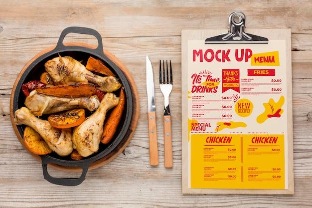 치킨 식사 모의 모형
