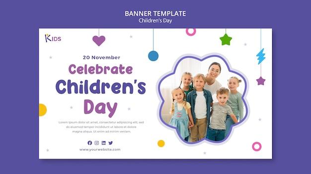 Disegno del modello di banner per la giornata dei bambini