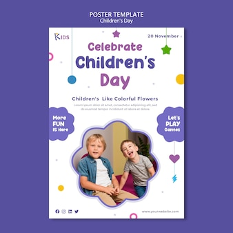 Modello di poster per la giornata dei bambini